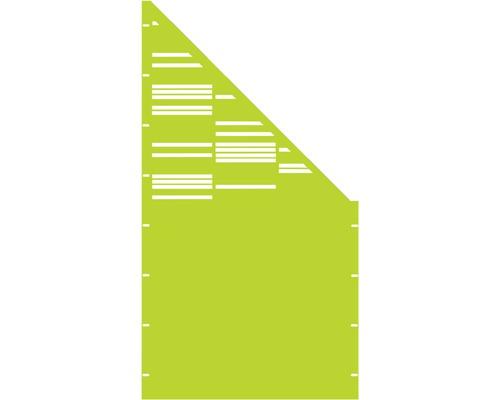 Element gard Stripes, 90 x 180 cm, verde, deschidere dreapta oblic