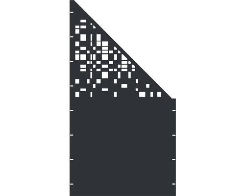 Element gard Geom, 90 x 180 cm, antracit, deschidere dreapta oblic