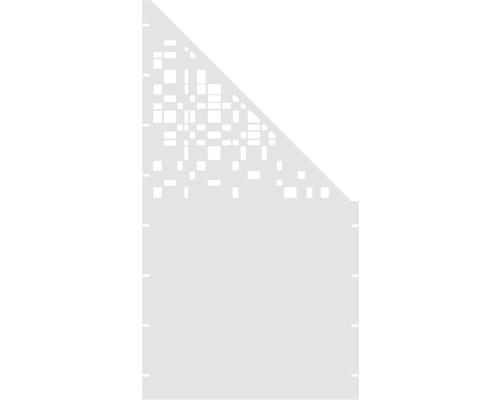 Element gard Geom, 90 x 180 cm, alb, deschidere dreapta oblic