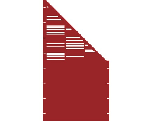 Element gard Stripes, 90 x 180 cm, rosu, deschidere dreapta oblic