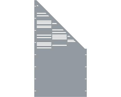 Element gard Stripes, 90 x 180 cm, gri, deschidere dreapta oblic