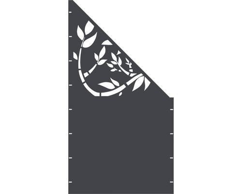 Element gard Floral, 90 x 180 cm, antracit, deschidere dreapta oblic