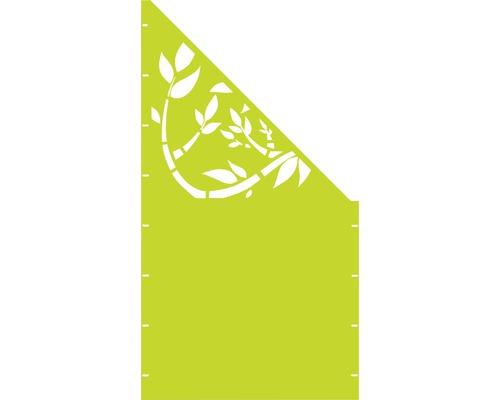 Element gard Floral, 90 x 180 cm, verde, deschidere dreapta oblic