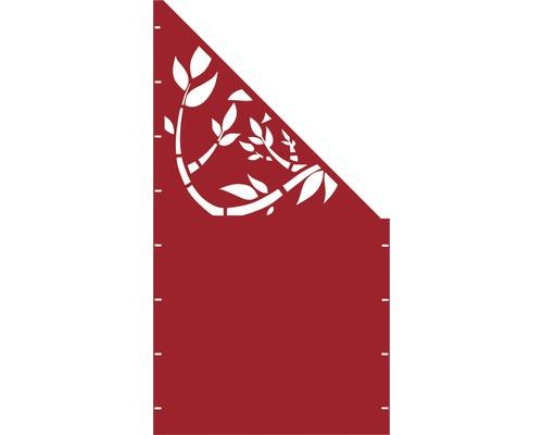 Element gard Floral, 90 x 180 cm, rosu, deschidere dreapta oblic