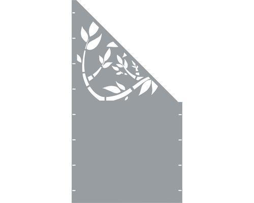 Element gard Floral, 90 x 180 cm, gri, deschidere dreapta oblic