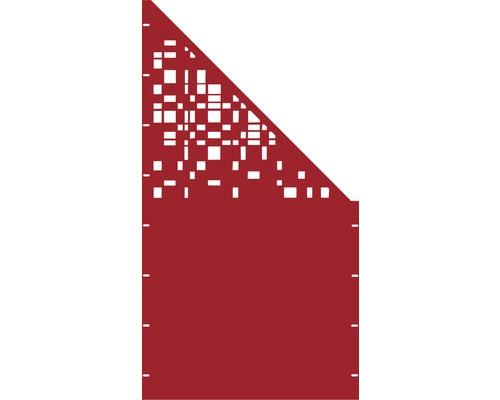 Element gard Geom, 90 x 180 cm, rosu, deschidere dreapta oblic