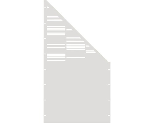 Element gard Stripes, 90 x 180 cm, alb, deschidere dreapta oblic