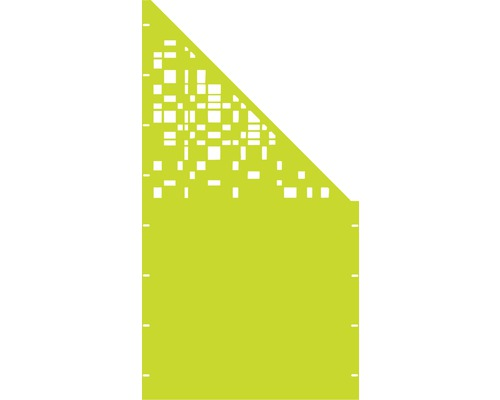 Element de extremitate GABIO Geometrie, dreapta 90x180 cm verde modern