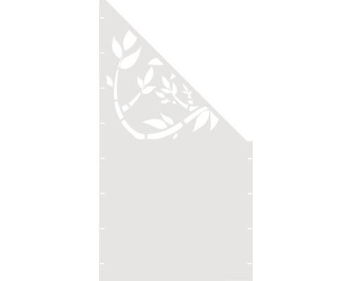 Element gard Floral, 90 x 180 cm, alb, deschidere dreapta oblic