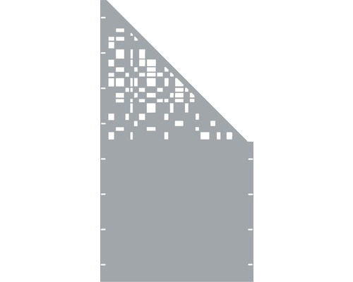 Element gard Geom, 90 x 180 cm, gri, deschidere dreapta oblic