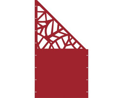 Element gard Palms, 90 x 180 cm, rosu, deschidere dreapta oblic