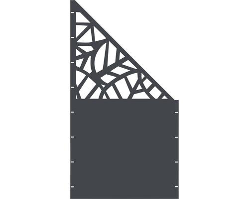 Element gard Palms, 90 x 180 cm, antracit, deschidere dreapta oblic