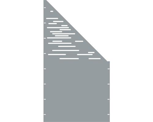 Element gard Vienna, 90 x 180 cm, gri, deschidere dreapta oblic