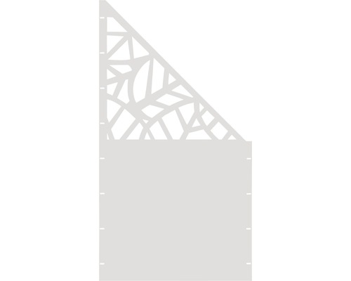 Element gard Palms, 90 x 180 cm, alb, deschidere dreapta oblic