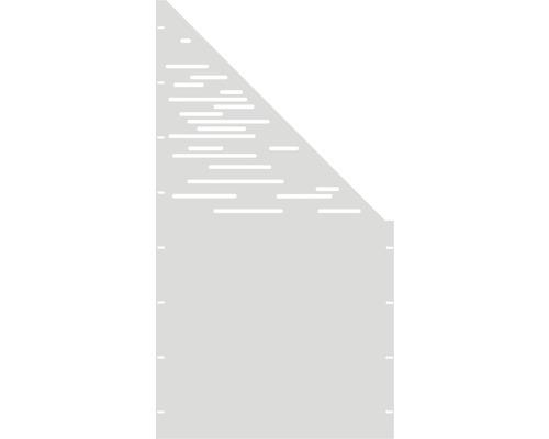 Element gard Vienna, 90 x 180 cm, alb, deschidere dreapta oblic