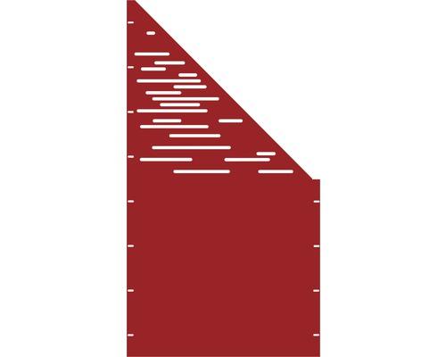 Element gard Vienna, 90 x 180 cm, rosu, deschidere dreapta oblic