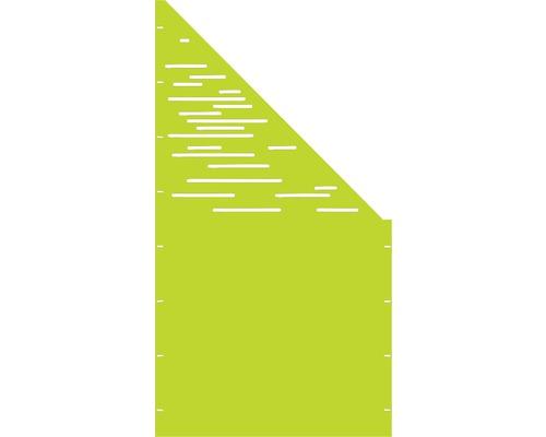Element gard Vienna, 90 x 180 cm, verde, deschidere dreapta oblic