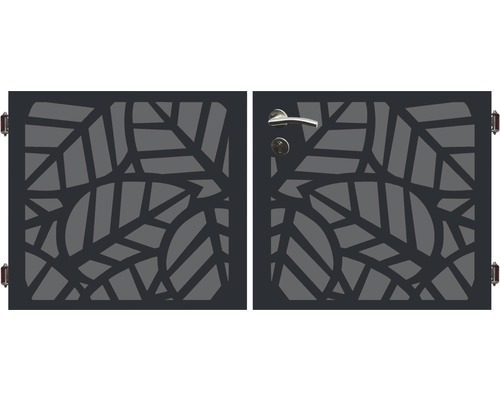 Poarta dubla 180 x 90 cm, Palms, antracit