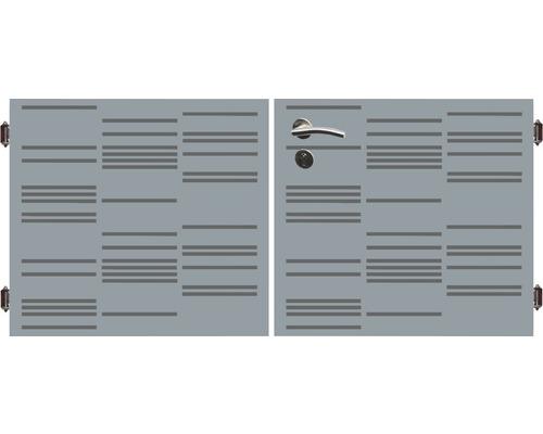 Poarta dubla 180 x 90 cm, Stripes, gri