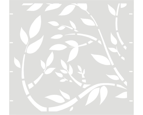Element gard Floral 90 x 90 cm, alb