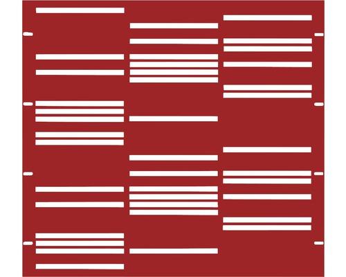 Element gard Stripes 90 x 90 cm, rosu