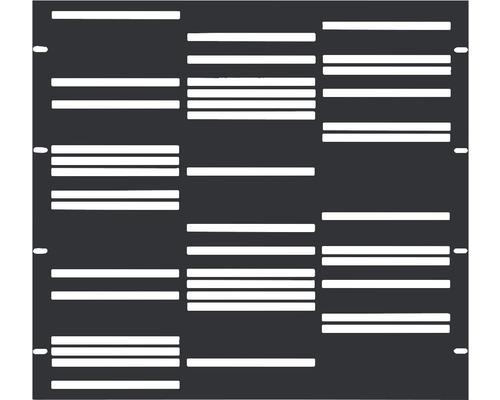 Element gard Stripes 90 x 90 cm, antracit