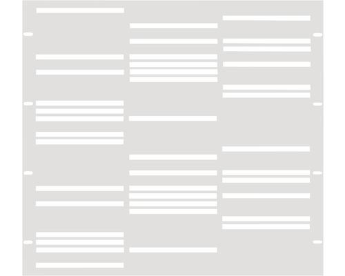 Element gard Stripes 90 x 90 cm, alb