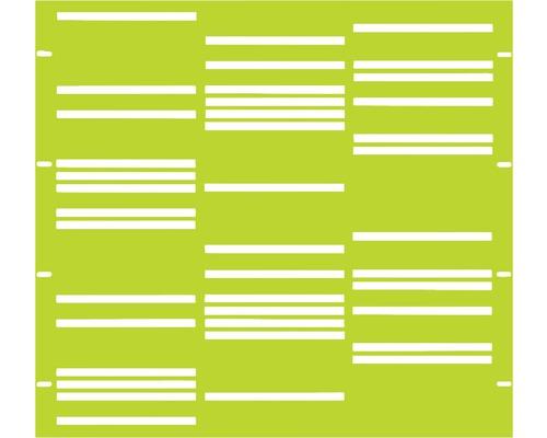 Element gard Stripes 90 x 90 cm, verde