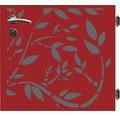 Poarta simpla Floral, 90 x 90 cm, deschidere dreapta, rosu