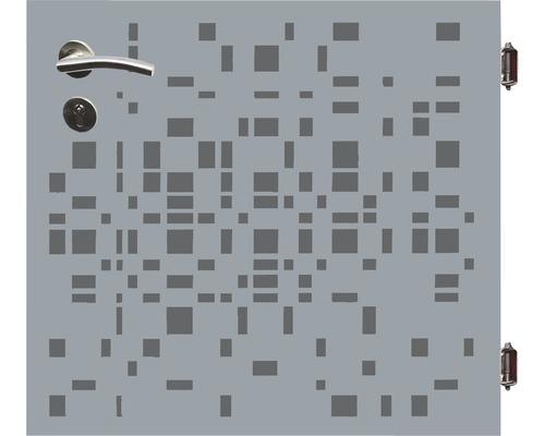 Poarta simpla Geo, 90 x 90 cm, deschidere drepta, gri