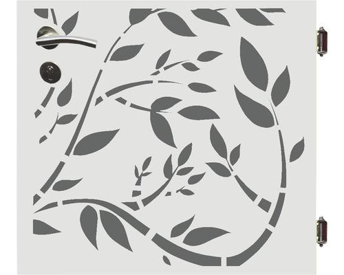 Poarta simpla Floral,90 x 90 cm, deschidere dreapta, alb