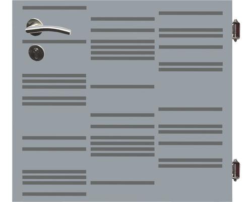 Poarta simpla Stripes, 90 x 90 cm, deschidere dreapta, gri