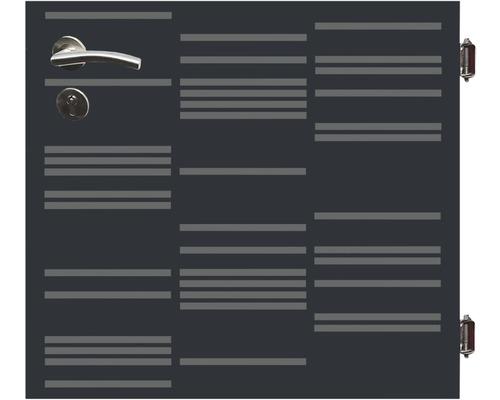 Poarta simpla Stripes, 90 x 90 cm, deschidere dreapta, antracit