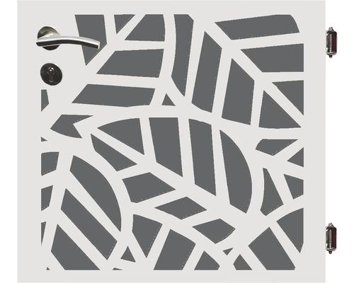 Poarta simpla Palms, 90 x 90 cm, deschidere dreapta, alb