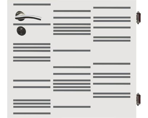 Poarta simpla Stripes, 90 x 90 cm, deschidere dreapta, alb
