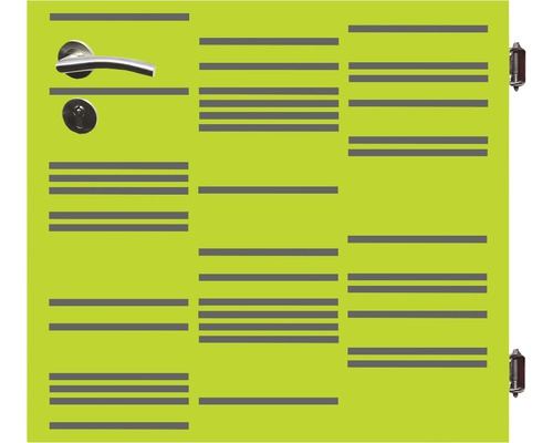 Poarta simpla Stripes, 90 x 90 cm, deschidere dreapta, verde