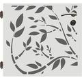 Poarta simpla, 90 x 90 cm, Floral, deschidere stanga, alb