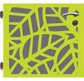 Poarta simpla, 90 x 90 cm, Palms, deschidere stanga, verde