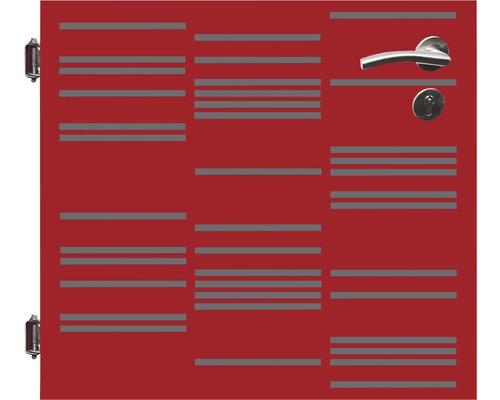 Poarta simpla, 90 x 90 cm, Stripes, deschidere stanga, rosu