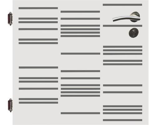 Poarta simpla, 90 x 90 cm, Stripes, deschidere stanga, alb