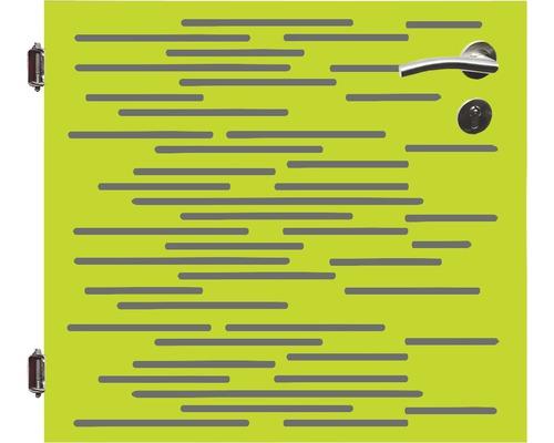 Poarta simpla, 90 x 90 cm, Vienna, deschidere stanga, verde
