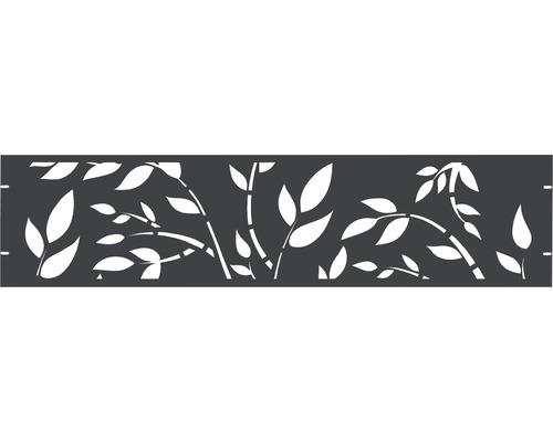 Element gard Floral 180 x 45 cm, antracit