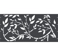 Element gard Floral, 180 x 90 cm, antracit