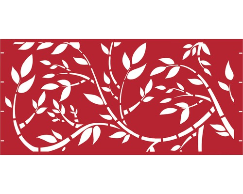 Element gard Floral, 180 x 90 cm, rosu