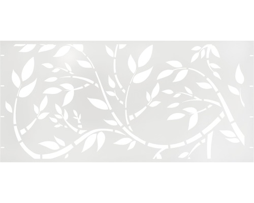Element gard Floral, 180 x 90 cm, alb