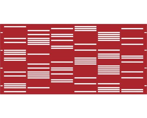 Element gard Stripes, 180 x 90 cm, rosu