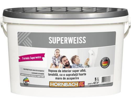 Vopsea lavabila de interior super alba Superweiss 5 l