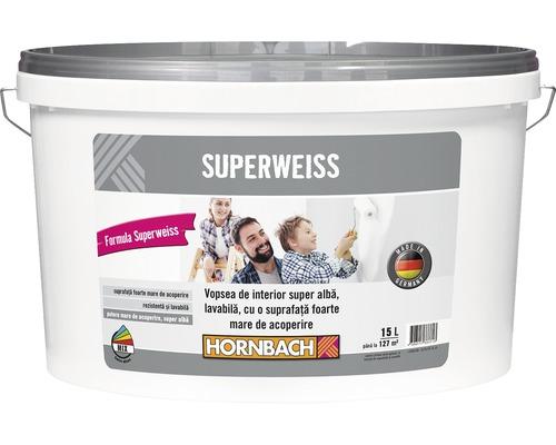 Vopsea lavabila de interior super alba Superweiss 15 l