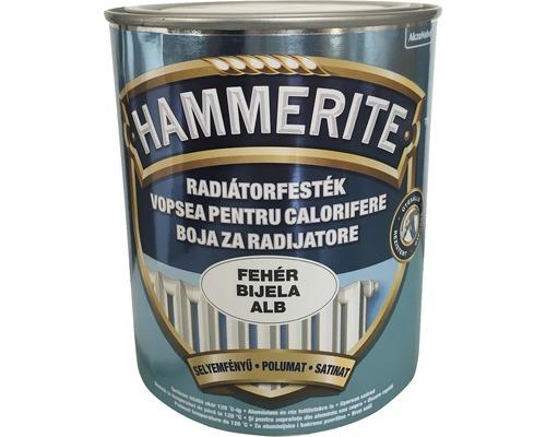 Vopsea pentru calorifere Hammerite email acrilic alb satinat 0,75 l