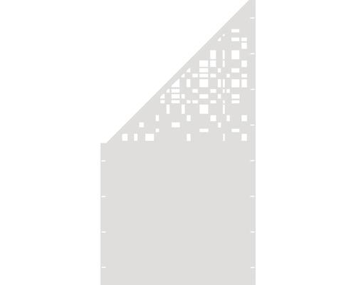Element gard Geometrie, 90 x 180 cm, alb, deschidere stanga oblic